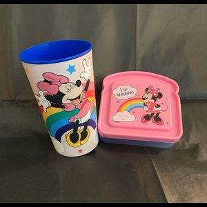4 / $35 - NEW 2 Pc Minnie Mouse Lunch Kit (Cup & Sandwich Case) - G101